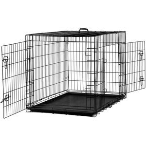 MYPETS® X-Treme Safe Hundegitterbox mit Bodenwanne für innen & außen (S= 61x46x51 cm)
