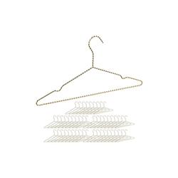 relaxdays Kleiderbügel 50 x Drahtbügel gold