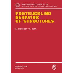 Postbuckling Behavior of Structures als Buch von Maria Esslinger/ B. Geier