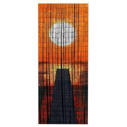 WENKO Balkonset Bambusvorhang Sonnenuntergang