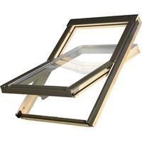 Fakro OptiLight Dachfenster B 01 55 x 78 cm, Kiefernholz natur, Blech grau 879901