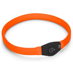 Halsband LED Langhaar orange Visio Light für langhaarige Hunde