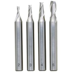 Proxxon Schaftfräser, Set, 4-tlg., HSS (2 - 3 - 4 - 5 mm)
