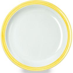 WACA Teller Bistro, (4 Stück), Melamin, 23,5 cm gelb