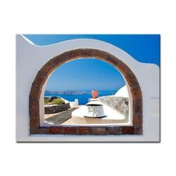 Bilderdepot24 Leinwandbild, Leinwandbild - Window to Paradise - Fenster zum Paradies 40 cm x 30 cm