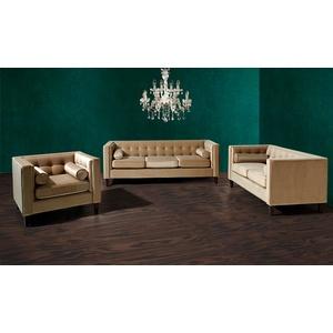 Max Winzer Sofa 3-Sitzer / Sofa 2-Sitzer / Sessel Jeronimo Samtvelours sand x 85 x 80