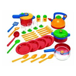 Klein Kinder-Küchenset - Küchenset - rot/gelb/grün