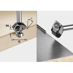Festool Fasefräser-Wendeplatten S8 HW 45° D27 12x12 KL