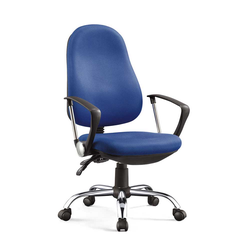 Schreibtisch Drehstuhl in Blau Meshgewebe