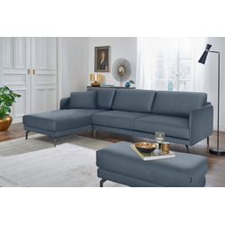 hülsta sofa Ecksofa hs.450, mit schmaler Armlehne blau