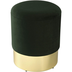 Woltu Sitzhocker, Sitzhocker mit Samtbezug, rund