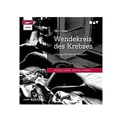 Wendekreis des Krebses  1 Audio-CD  MP3 - Hörbuch