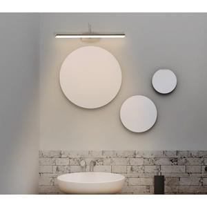 TRANGO LED Spiegelleuchte, 2244 Modern IP44 LED Spiegelleuchte *FLEXI* Badleuchte 475mm lang mit schwenkbar und drehbar Flexarm Schminklicht, Badezimmer Wandleuchte, Bilderleuchte 7 Watt 3000K warmweiß