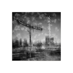 Artland Glasbild Berlin Siegessäule I, Gebäude (1 Stück) 20 cm x 20 cm x 1,1 cm