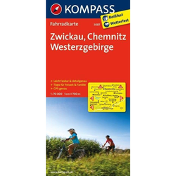 Zwickau - Chemnitz - Westerzgebirge 1 : 70 000 - Fahrradkarten