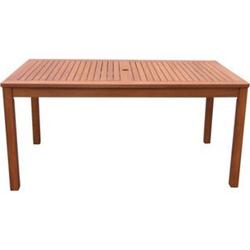 Grasekamp Gartentisch 160x90cm Natur Holztisch  Tisch Gartenmöbel Eukalyptus
