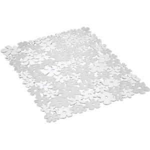 InterDesign Blumz Spülbeckeneinlage, große Spülbeckenmatte aus PVC Kunststoff, durchsichtig