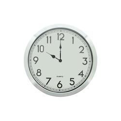 HomeLiving Uhr Silberrand