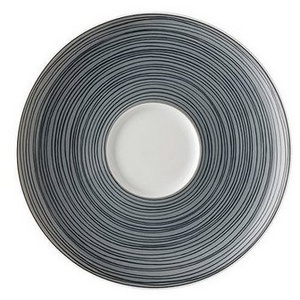 Rosenthal Untertasse TAC Gropius Stripes 2.0 matt Espresso-Untertasse, (1 Stück), Porzellan