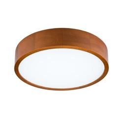 Licht-Erlebnisse Deckenleuchte ABBEY Runde LED Deckenleuchte Holz rustikal Wohnzimmer Flur Lampe