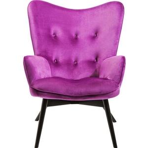 Kare Design Armchair Vicky Velvet Purple