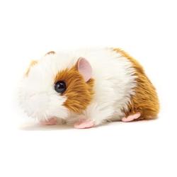 Teddy HERMANN® Meerschweinchen gold-weiß, 18 cm