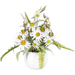 Künstliche Zimmerpflanze Elwine Rudbeckia, DELAVITA, Höhe 48 cm, im Keramiktopf
