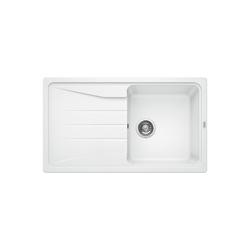 Single Bowl White Composite Kitchen Sink with Reversible Drainer - Blanco Lantos Sona 5 S Silgranit Puradur Ii