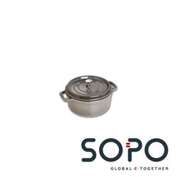 Staub Cocotte, rund, 24cm, grau, Schmortopf, Single pan