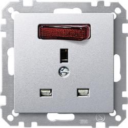 Merten 202360, Zentralplatte für SCHUKO-Steckdosen Einsatz TPm alu SysM