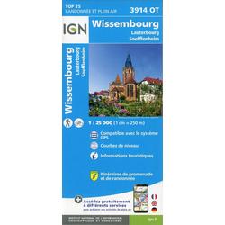 Wissembourg.Lauterbourg-Soufflenheim 1:25 000