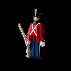 Kay Bojesen Dekofigur Soldat mit Gewehr Rot/Blau/Weiß