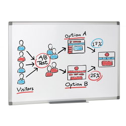 Whiteboard, magnettafel, 900 x 600 mm