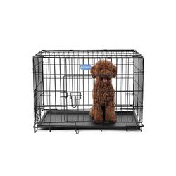 FEANDREA Hundezwinger PPD30H PPD36H PPD42H, Hundezwinger Hundebox Schutzgitter klappbar 75 x 47 x 54 cm schwarz 47 cm x 75 cm x 54 cm