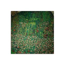 Artland Wandbild Gartenlandschaft mit Bergkuppe (Gartenlandschaft), Garten (1 Stück) 40 cm x 40 cm
