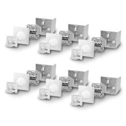 ARLI Cat6a Netzwerkdose Netzwerk Dose 2 RJ45 Port Aufputz / Unterputz Netzwerk-Adapter, Universal Gigabit / Ethernet Kombidose