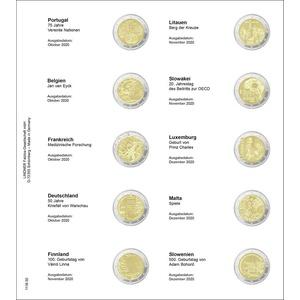 Lindner 1118-30 Vordruckblatt für 2 €URO-Gedenkmünzen: Portugal 2020 bis Slowenien 2020
