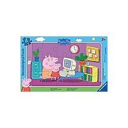 Peppa Pig am Computer (Kinderpuzzle)