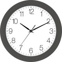 EUROTIME 88800-11-1 Quarz Wanduhr 30cm x 4.5cm Granit-Grau (matt) Schleichendes Uhrwerk (lautlos)
