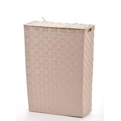 animal-design Wäschekorb, NISCHEN-WÄSCHEKORB Wäschekorb ca. 48 Liter Stoff geflochten Wäschesammler Korb Wäschesortierer 39 cm x 52 cm x 17 cm