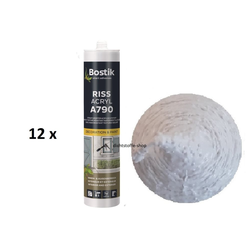 12 x Bostik A790 Riss Acryl weiß 1K Acryl Dichtstoff 300ml Kartusche