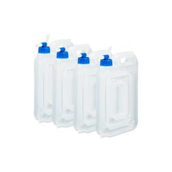 relaxdays Kanister Wasserkanister Camping 4er Set, BPA frei 6.5 cm x 30 cm x 19 cm