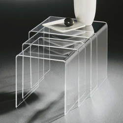 Tischchen Set aus Acrylglas modern (3-teilig)