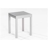MERXX Balkontisch 130 x 65 x 75 cm silber ausziehbar