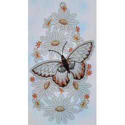 Stickereien Plauen Fensterbild Schmetterling