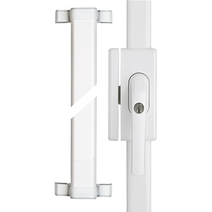 ABUS Fenster-Stangenschloss FOS650A AL0125 - Zusatzsicherung mit Alarm, ideal für hohe Fenster und Fenstertüren, gleichschließend - ABUS-Sicherheitslevel 10 - 77306 - Weiß