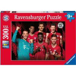 Ravensburger Puzzle FC Bayern Saison 20/21, 300 Puzzleteile, Made in Germany, FSC® - schützt Wald - weltweit