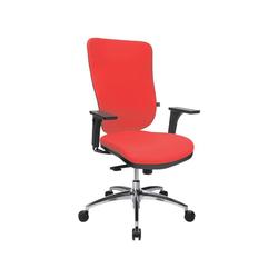 TOPSTAR Schreibtischstuhl Soft Pro 100 mit Bandscheibensitz rot