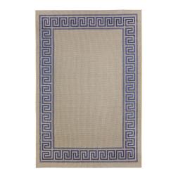 Outdoor Teppich Griechische Bordüre (Blau; 120 x 170 cm)