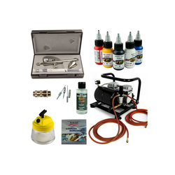 Airbrush-City Druckluftwerkzeug Airbrush Set Body-Painting - Ultra Two in One + Sparmax AC-500 Kompressor - Kit 9405, (1-St)
